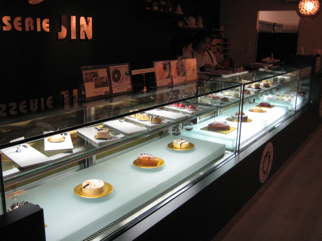 Jin Patisserie cake display